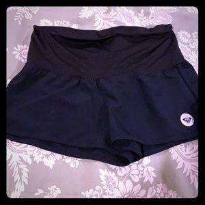 Roxy black board shorts.